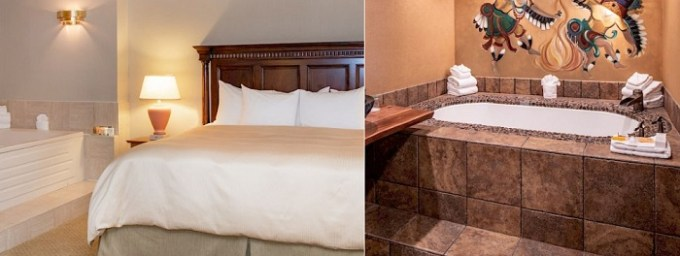 Hot tub suite in Woodcliff Hotel and Spa, near Rochester, NY
