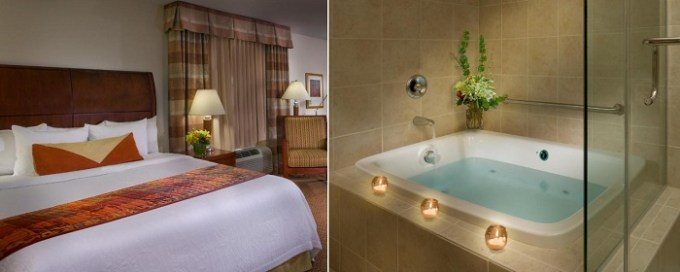 King room with a whirlpool tub in Hilton Garden Inn Milwaukee Northwest Conference Center