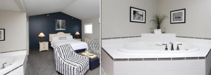 Whirlpool suite in Bay Pointe Inn, Orangeville, near Grand Rapids. MI