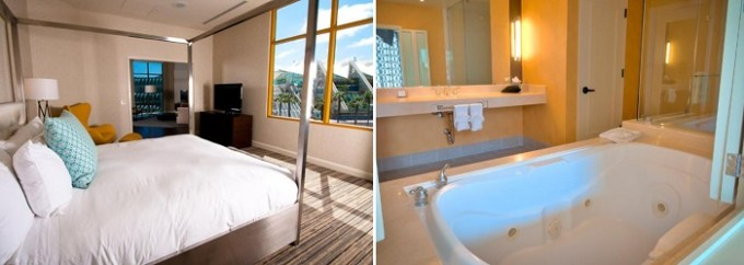 king suite with Whirlpool loft in Hilton San Diego Gaslamp Quarter hotel