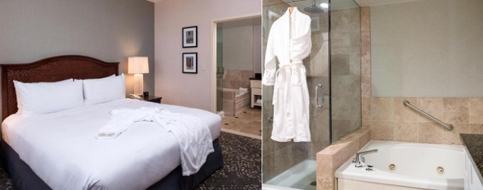 A Suite with a hot tub in Hilton San Antonio Hill Country hotel, TX