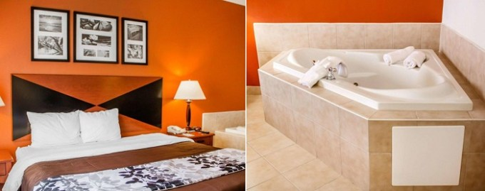 Hot Tub Suite in Sleep Inn & Suites Oklahoma City Northwest Hotel