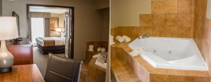 Room with a hot tub in Comfort Suites Sea World- Lackland hotel, San Antonio, TX