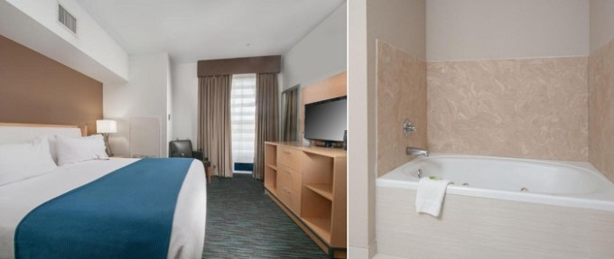 Suite with Whirlpool in Holiday Inn Express Hotel & Suites San Antonio - Rivercenter Area, TX