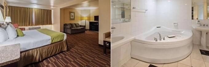 Hot Tub suite in Best Western Atlantic City Hotel, NJ