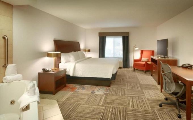 Hot Tub suite in Hilton Garden Inn Salt Lake City-Sandy, Utah