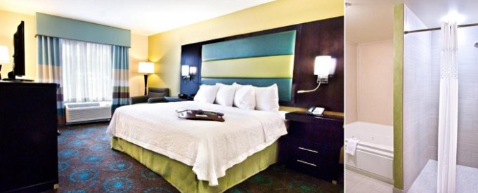 Suite with a hot tub in Hampton Inn & Suites Salt Lake City-Farmington, Utah