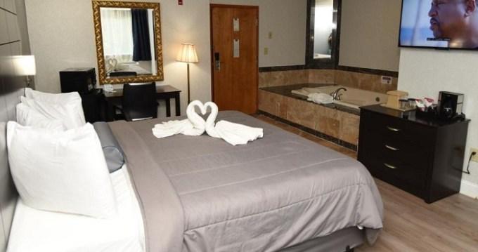 Suite with whirlpool in FairBridge Hotel Atlantic City, NJ