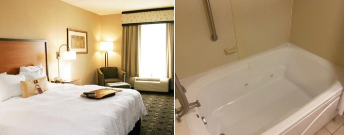 Hot Tub suite in Hampton Inn and Suites Indianapolis-Fishers Hotel, Indiana