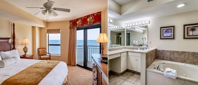 Oceanfront suite with a whirlpool tub in Island Vista Resort, Myrtle Beach, SC