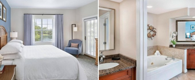 Villa with a whirlpool tub in the room in Sheraton-Broadway Plantation Resort Villas Myrtle Beach, SC