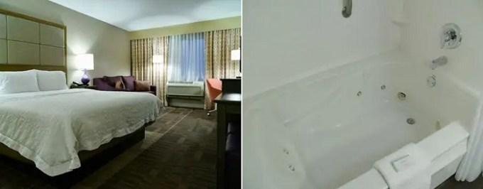 Hot Tub Suite in Hampton Inn Waterbury