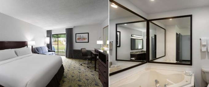 Hot Tub suite in DoubleTree by Hilton Pittsburgh - Meadow Lands Hotel, PA