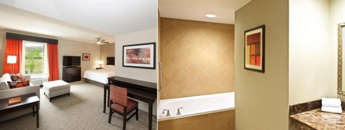 Hot tub suite in Homewood Suites by Hilton Pittsburgh-Southpointe, PA