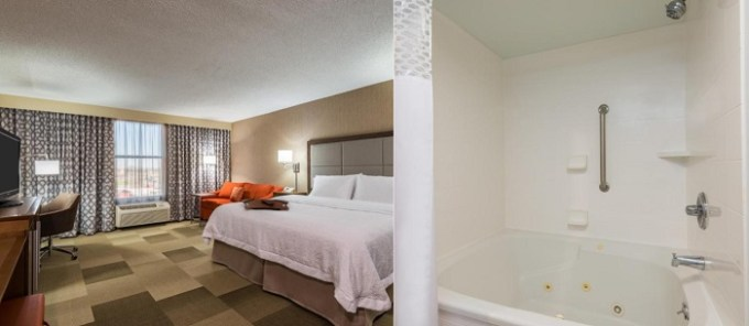 Suite with a whirlpool tub in Hampton Inn Buffalo-Airport Galleria Mall Hotel, NY