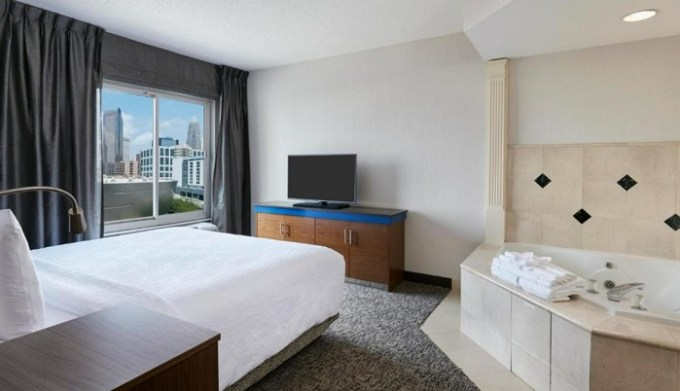 Hot Tub suite in Hilton Garden Inn Charlotte Uptown Hotel, NC