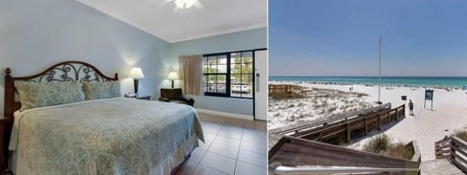 A beachy room in Beachside Inn, Destin, Florida