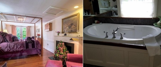 Hot Tub Suite with a fireplace in Hartwell House Inn, Ogunquit, Maine