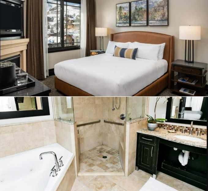 Suite with a whirlpool tub in Waldorf Astoria Park City, Utah