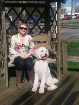 Danielle travels with her guide dog and they visit hotels anywhere together
