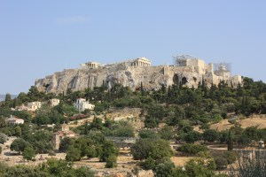 Athens, Acropolis, from Ancient Agora