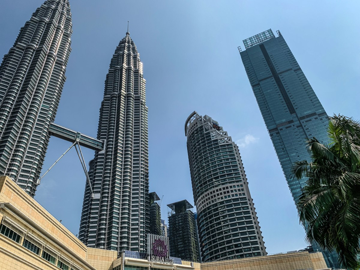 Four Seasons KL - right - with twin towers on left