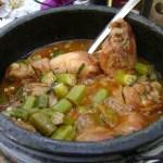 imagem de cumbuca de frango com quiabo