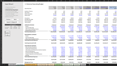 Historical Financial Statement Input