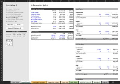 Renovation Budget Input