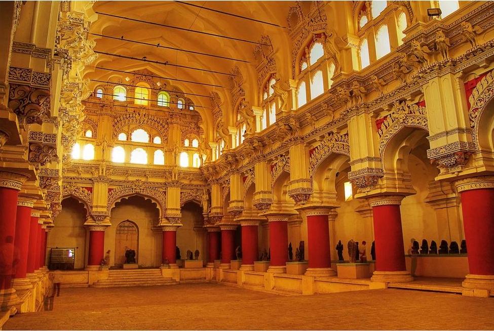 Image result for thirumalai nayakkar palace dance hall
