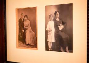 Two vintage photos of local families