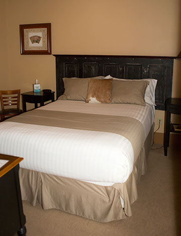 bed with door headboard