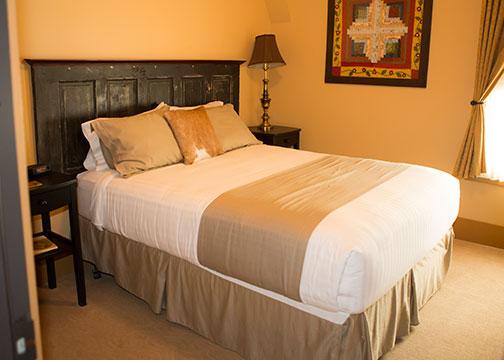 bed with door headboard