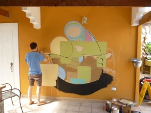 Artist-in-residence Matthew Reid.