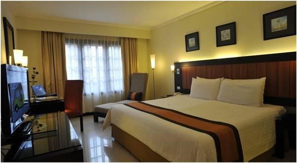 Salah satu kamar Prime Plaza Hotel Jogjakarta tipe executive deluxe