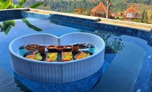 4. Bubu Jungle Resort Private Pool di Bandung