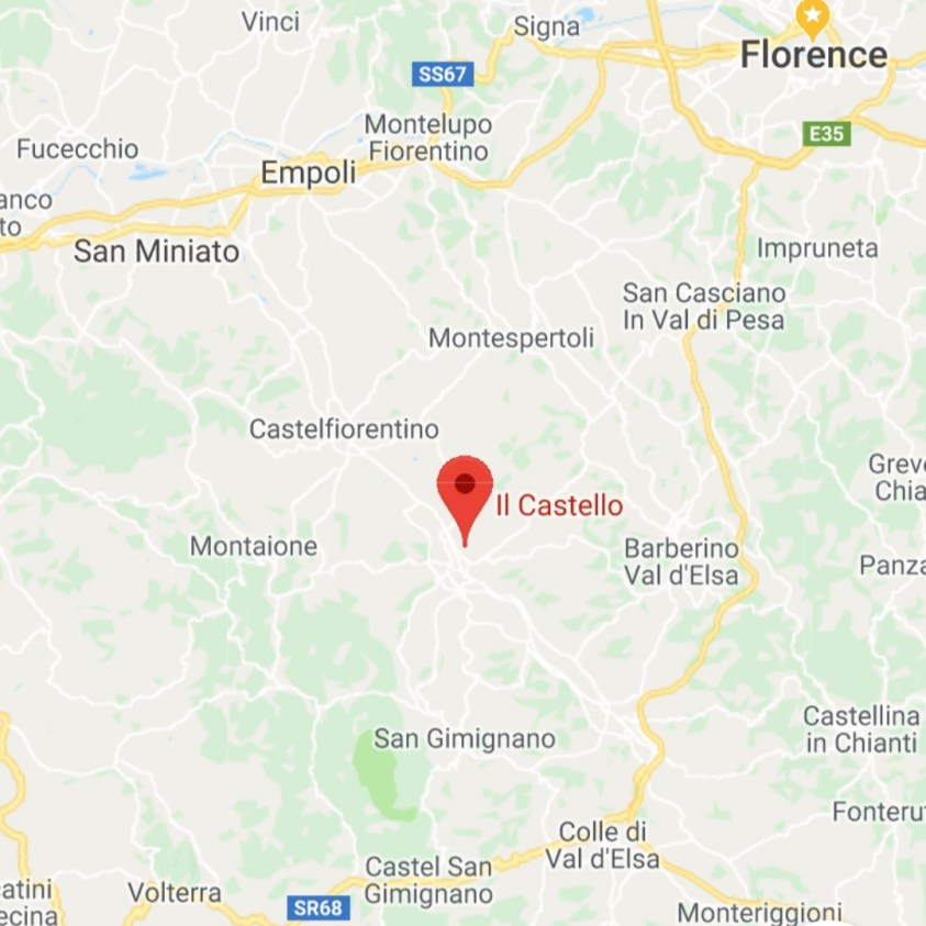 Hotels Near Trains | Italy Castle Hotels | Hotel Il Castello | Map