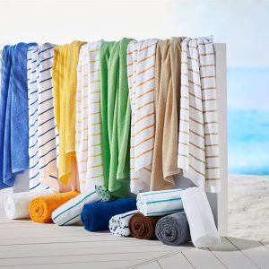 Harbor Linen Striped Pool Towels