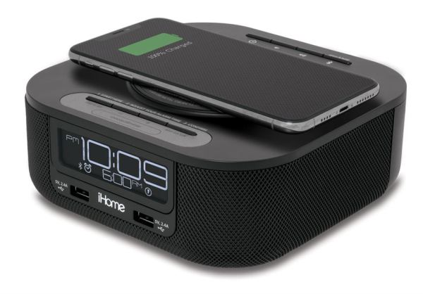 IHOME ALARM CLOCK WITH WIRELESS CHARGE