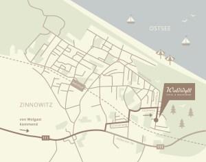 Anfahrts Beschreibung Hotel Waldidyll in Zinnowitz an der Ostsee