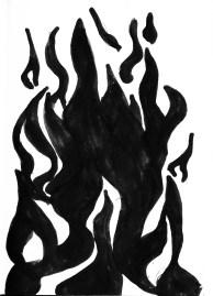 Black Marker illustration, scanned into photoshop.