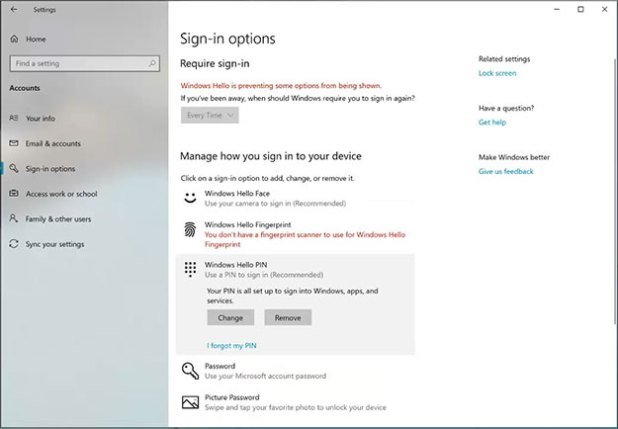 Windows Logon Options