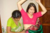 Hot Indian girl wearing saree