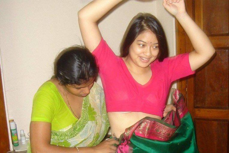 Hot Indian girl wearing saree