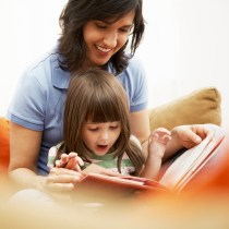 Mother & Daughter reading