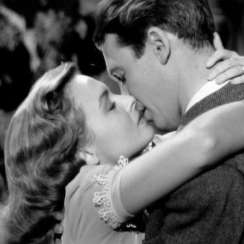 Jimmy Stewart & Donna Reed - kiss from It's a Wonderful Life