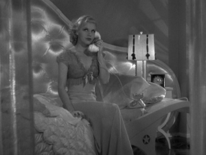 Ginger Rogers in a fancy nightgown from Top Hat (1935)