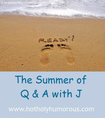"Beach with footprints pointing toward ocean and ""Ready?"" plus blog post title"