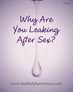 Why Are You Leaking After Sex? - water drop