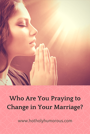 Blog post title + woman praying with light shining on her